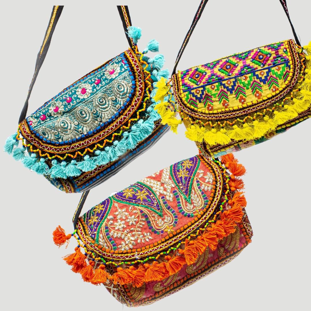 tassel purse slow fashion recycled